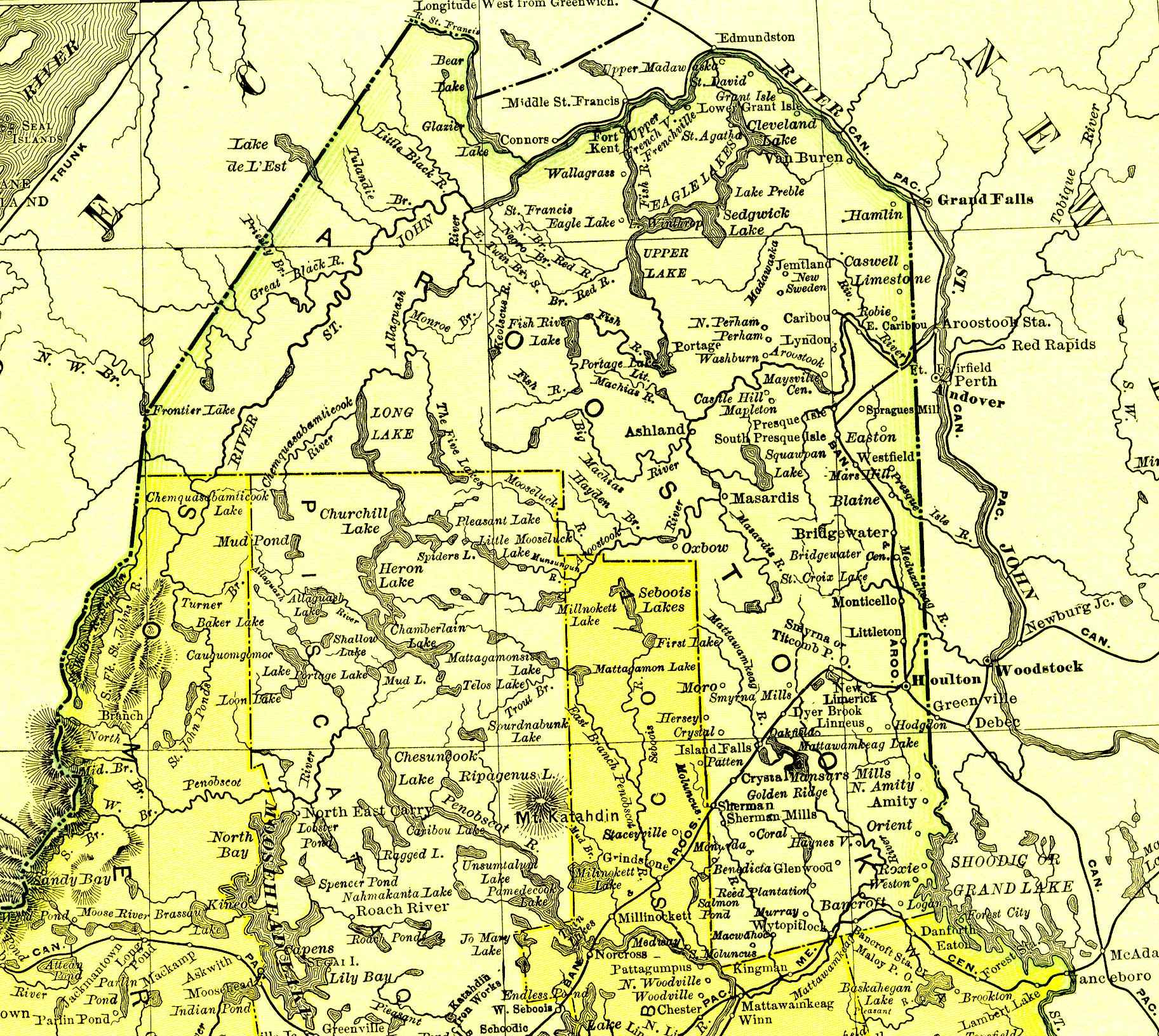 1895 Map of Aroostook County